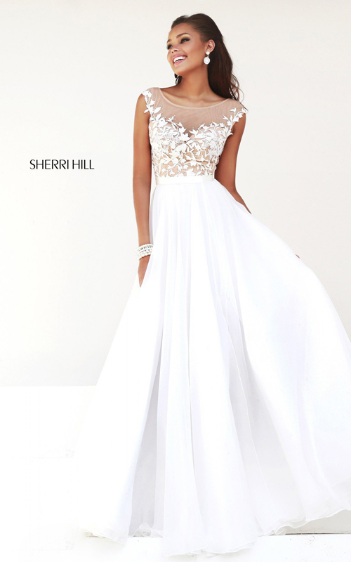Designer White Prom Dress 2015 Sherri Hill 11151
