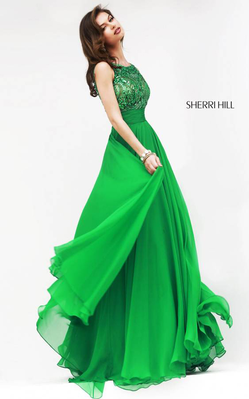 Emerald Sherri Hill 11170 Skirt Gown