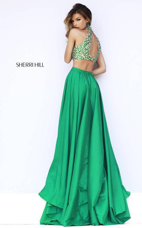 Emerald Sherri Hill 32020 Two Piece Evening Gown-1