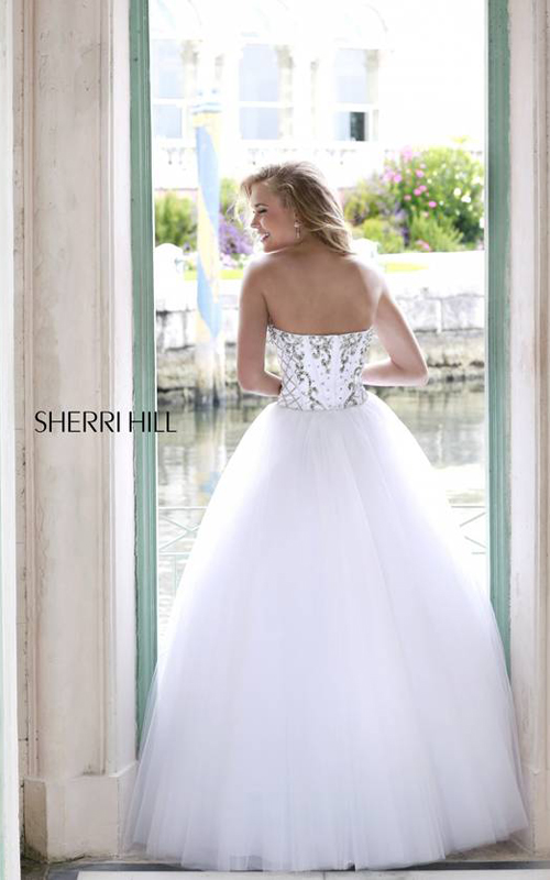Ivory Strapless Sherri Hill 32078 Party Dress_01