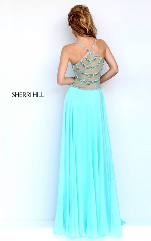 Mint Sherri Hill 8558 Beaded Jersey Evening Gown_01
