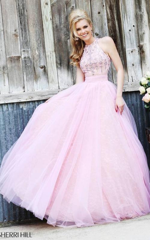 Open-back Pink Dress 2015 Sherri Hill 32218
