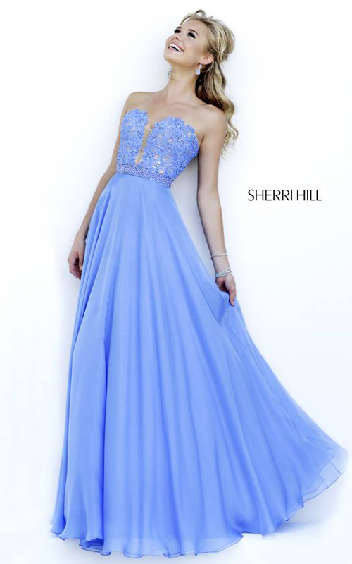 Periwinkle Sherri Hill 32180 Evening Dress Lace