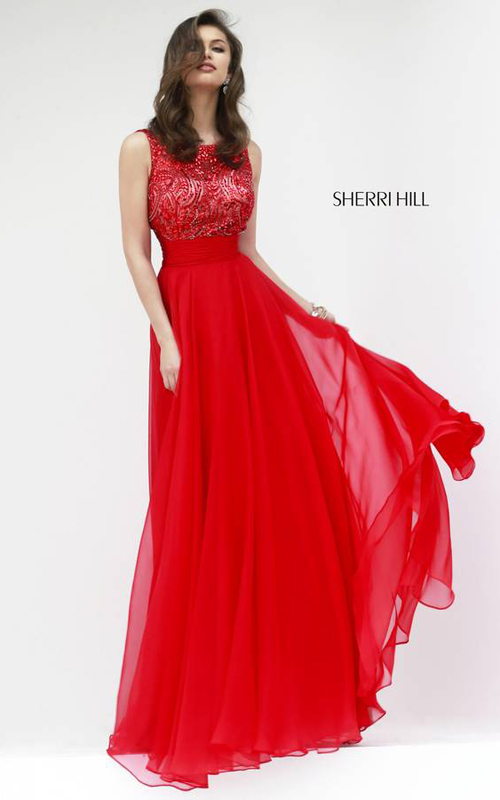 Red Sherri Hill 11170 Skirt Gown