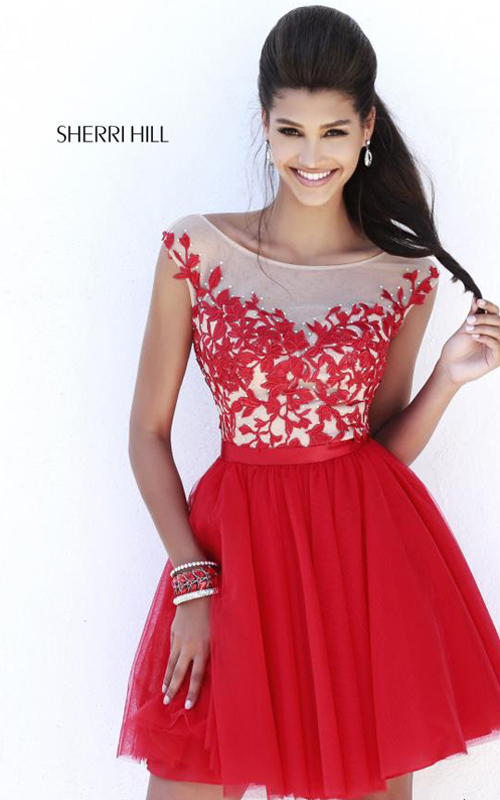 Red Sherri Hill 11171 Short Cocktail Dress