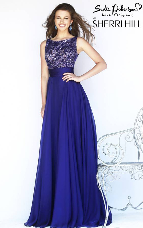 Sherri Hill 11170 Purple Skirt Gown
