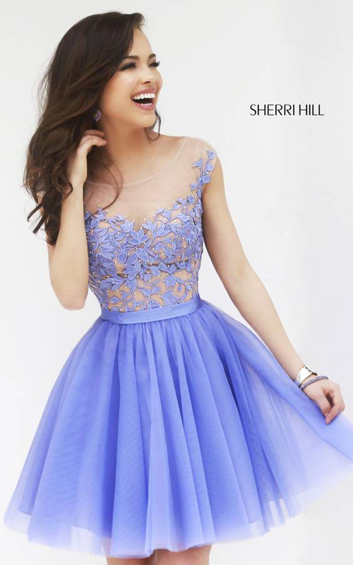 Sherri Hill 11171 Periwinkle Short Cocktail Dress