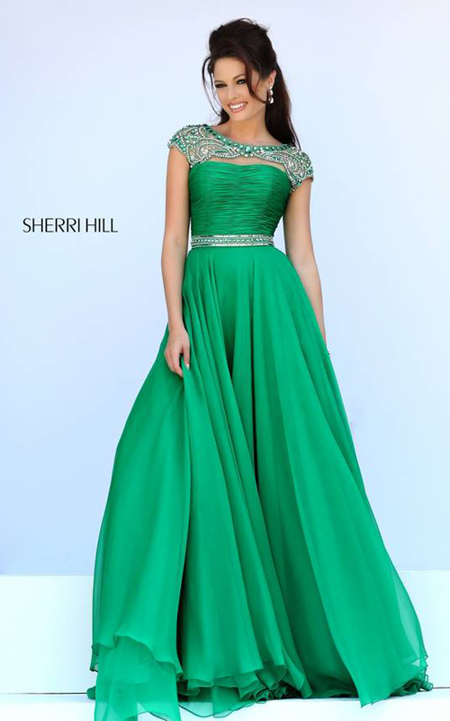 Sherri Hill 11181 Emerald Long Ball Gown