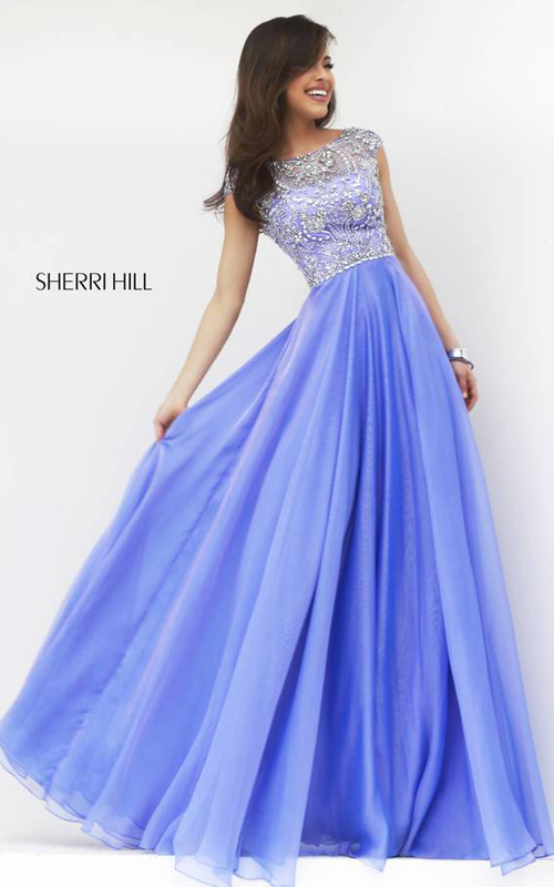 Sherri Hill 32017 Periwinkle A Line Gown