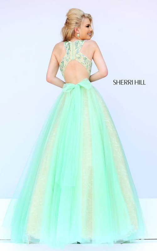 Sherri Hill 32218 Green Beads Prom Gown 2015_01