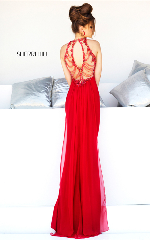 Beads Sherri Hill 32043 Red Prom Gown Sexy_01