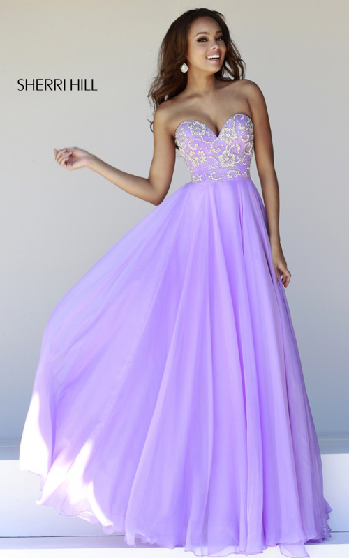 Beads Sherri Hill 8545 Lilac Sweet Prom Dress 2015