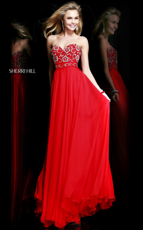 Junior Red Prom Dress Sweet Sherri Hill 8545