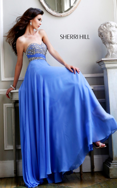 Periwinkle Sherri Hill 3914 Beads Party Dress