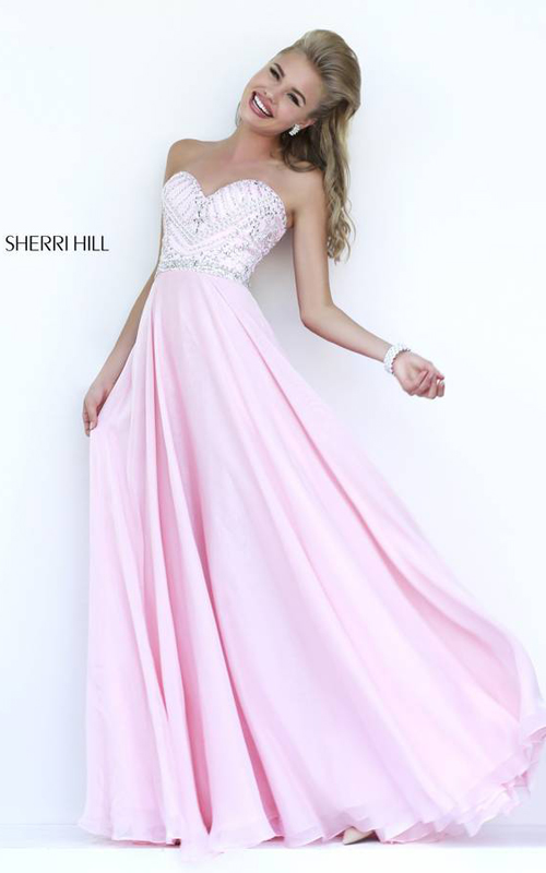 Sherri Hill 1944 Pink Sweetheart Evening Gown