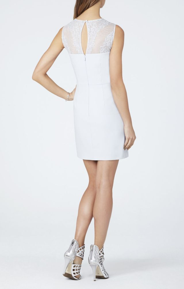 BCBG Kinsley Crossed-back Round Neck Asymmetrical Dress_01