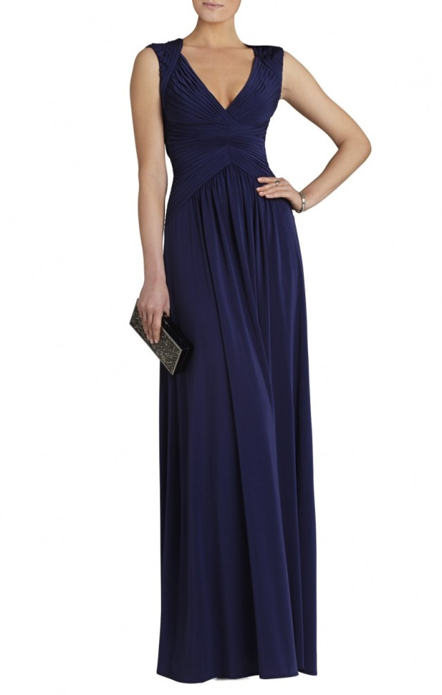 BCBG Sophia Sleeveless Long Evening Dress