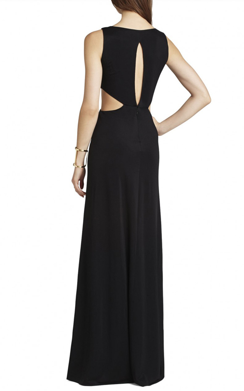 Black Valentina Cutout BCBG Sexy Evening Dress_1