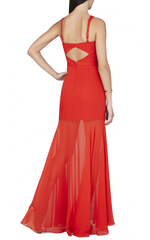 Crisscross Ria BCBGMAXAZRIA Sexy Evening Gown Red_01
