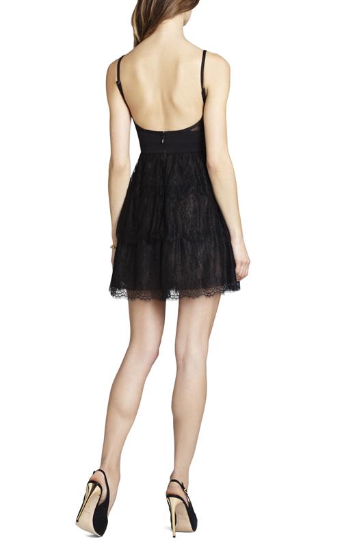 Josanna Short Lace BCBG Cocktail Dress Black_01.