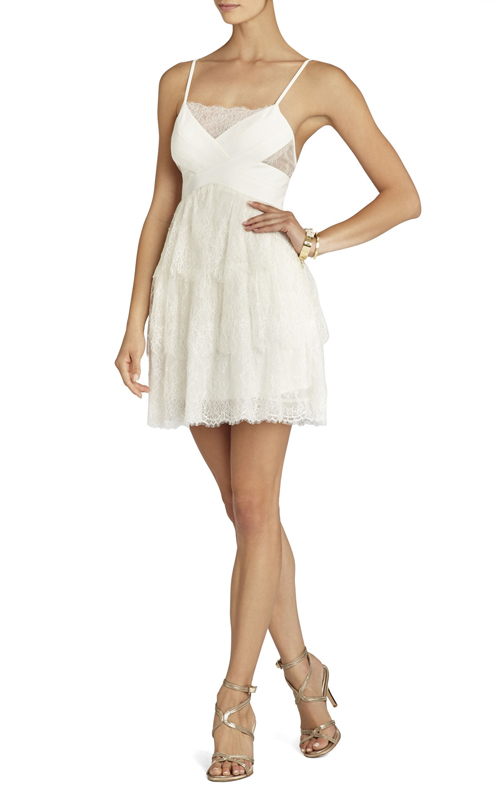 Lace Josanna BCBG White Short Sexy Dress