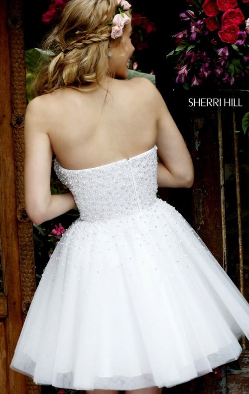2015 Sherri Hill 11312 beads white homecoming dress_1