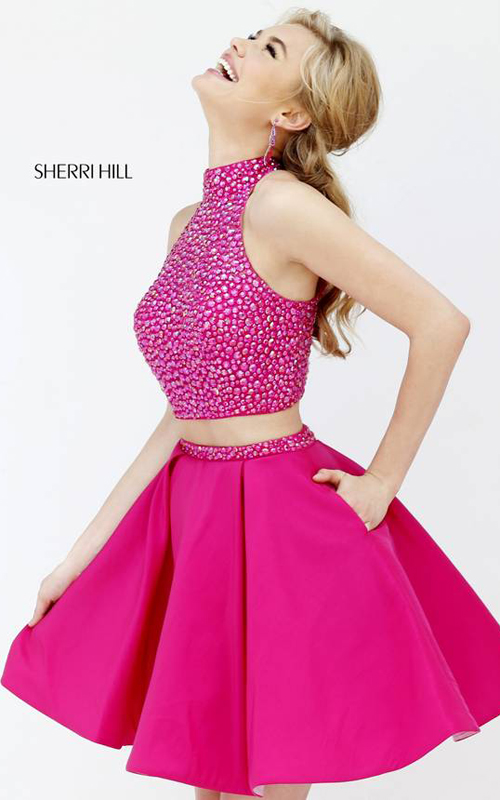 2015 Sherri Hill 11317 two piece homecoming dress short
