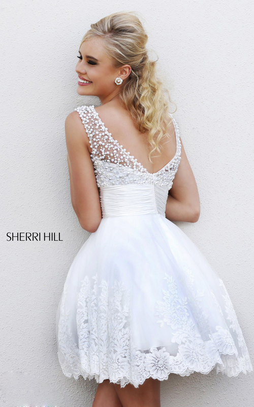 2015 Sherri Hill 4302 a line homecoming dress white_1