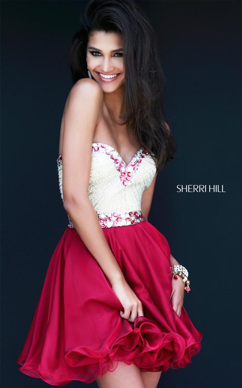 classy Sherri Hill 1929 ruby sweetheart party dress 2015