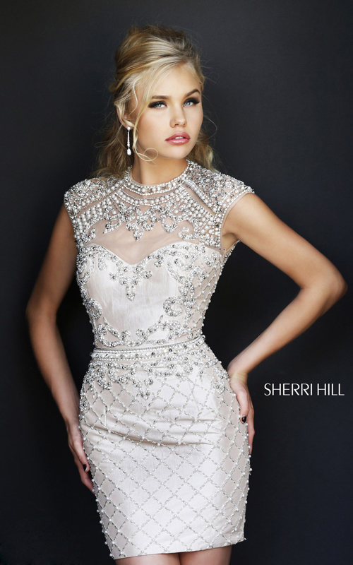open back sexy homecoming dress 2015 Sherri Hill 4304
