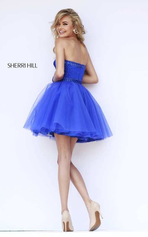 a line royal homecoming dress 2015 Sherri Hill 32070_1