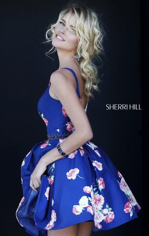A Line Sherri Hill 32321 Homecoming Dress Royal 2015_1