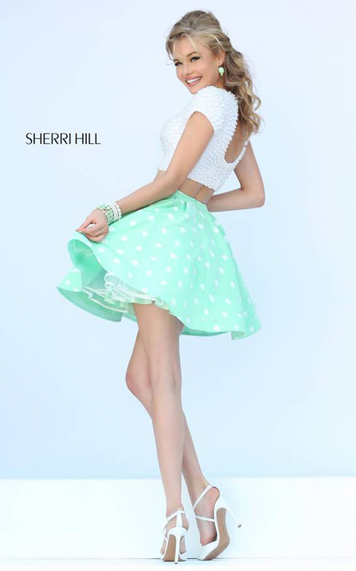 Mint Sherri Hill 32247 Pearl Party Dress Two Piece_1