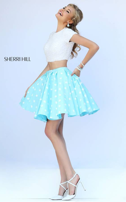 Sherri Hill 32247 Blue Pearls Homecoming Dress Sexy