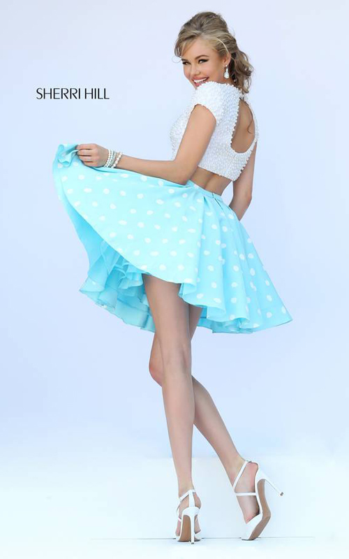 Sherri Hill 32247 Blue Pearls Homecoming Dress Sexy_1