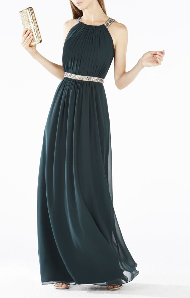 Beaded Celestine Halter BCBG Evening Dress 2015
