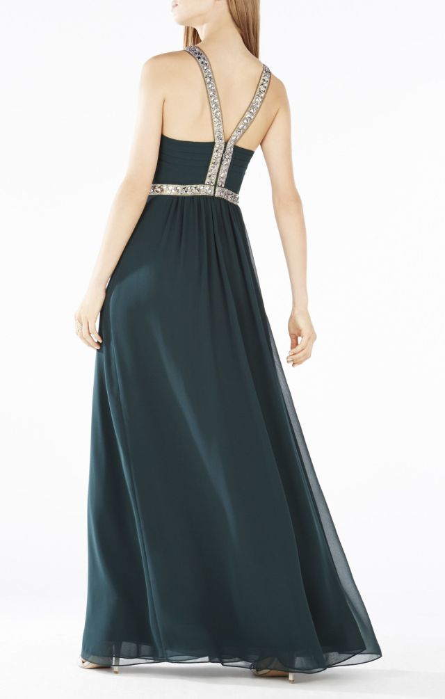 Beaded Celestine Halter BCBG Evening Dress 2015_1