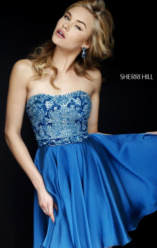 Beads Sherri Hill 1954 Royal Homecoming Dress 2015