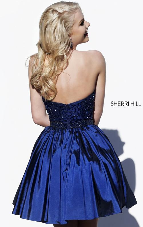 Royal Homecoming Dress Short 2015 Sherri Hill 32322_1