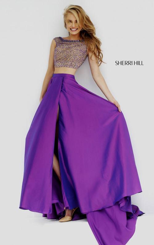 Sherri Hill 32274 two piece purple homecoming dress