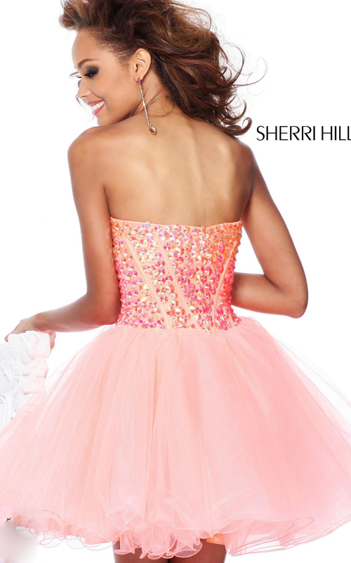 orange sherri hill 21101 homecoming dress sequins-1