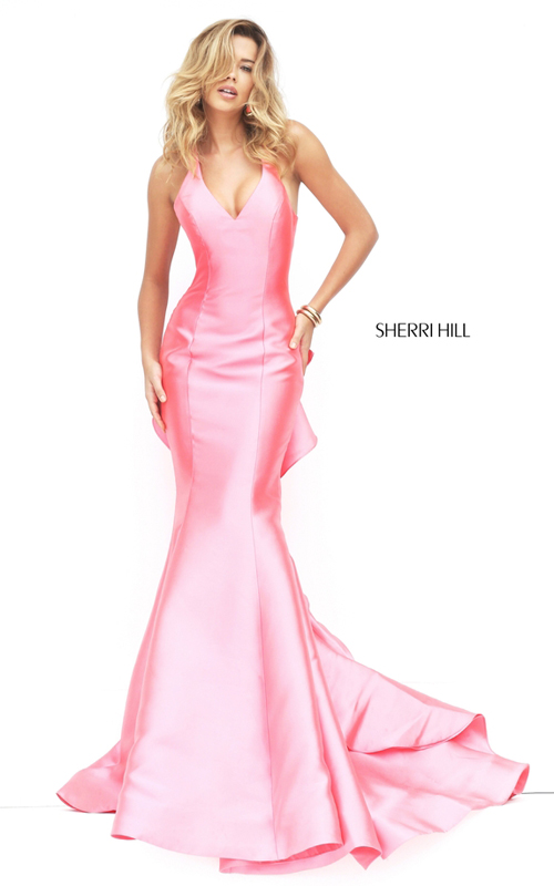 coral Sherri Hill 50195 sexy ruffled pageant dress 2016