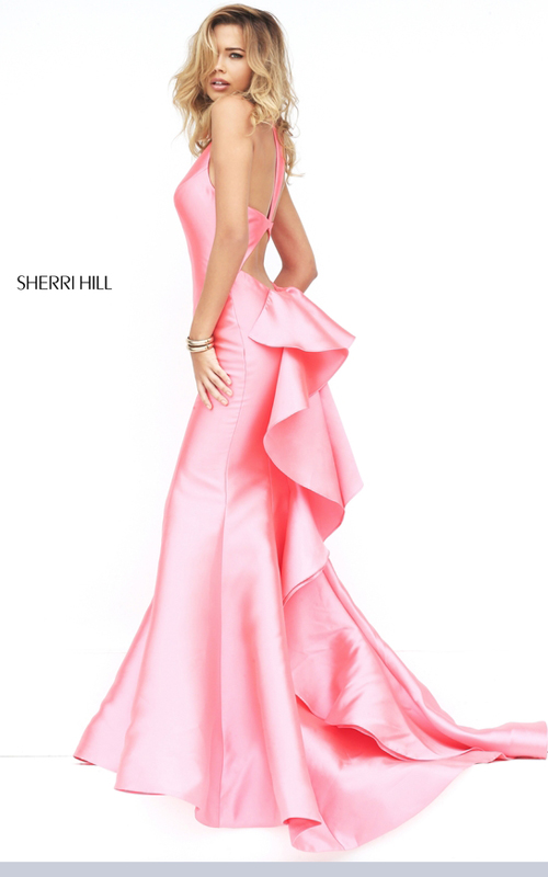 coral Sherri Hill 50195 sexy ruffled pageant dress 2016_1