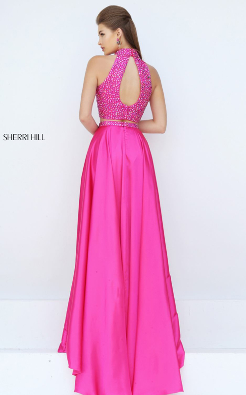 fuchsia Sherri Hill 11330 two piece beads prom dress_1