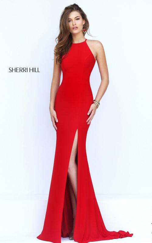 gorgeous cutout 2016 Sherri Hill red prom dress 32340