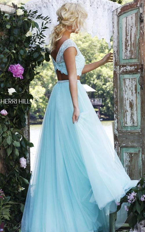 light blue Sherri Hill 50038 two piece pageant dress 2016_1