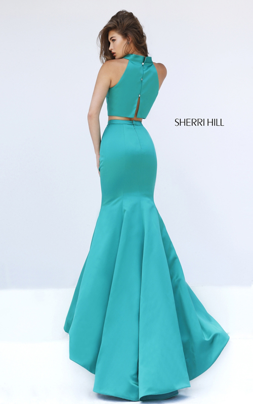 Sherri Hill 32365 2016 two piece prom dress emerald_1