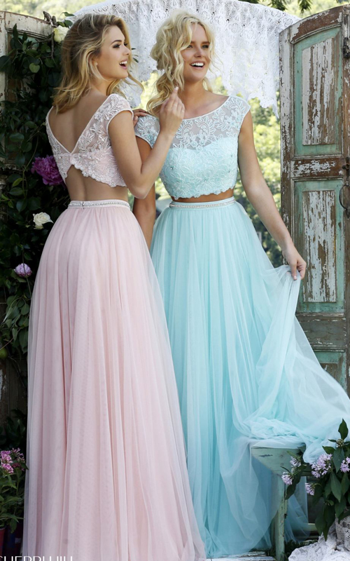 Sherri Hill 50038 blush long two piece princess dress_1