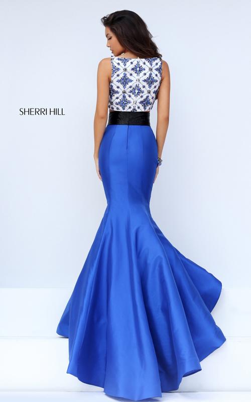 Sherri Hill 50109 two piece mermaid gown 2016 royal_1