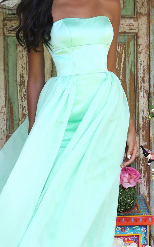 Sherri Hill 50227 strapless bridesmaid dress light green_1